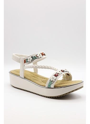 La scada Guja Y237 Beyaz Kadın Sandalet Beyaz